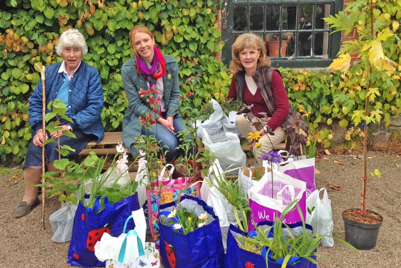 These three ladies, three generations of the one family by the way, must surely have been the best shoppers at the IGPS Plant Sale at Rowallane. What a collection of plants they have going home! It is wonderful to have people such as these supporting the plant sale; great to meet them and to share this great interest in plants. All they have to do now is find places for them in their gardens!