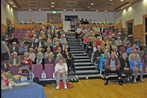 As the hall was filling for the talk - part of the large attendance for the event.