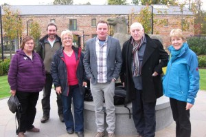 Left - right: Yvonne Penpraze, Neil Porteous (Head Gardener of Mount Stewart), Barbara Kelso, Seamus O'Brien (Curator of the National Botanic Gardens at Kilmacurragh), Billy McCone and Maeve Bell