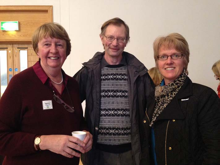 Barbara Kelso (right) who organises the Northern region's lecture programme with Agnes Peacocke and Robert Trotter who have recently joined the committee