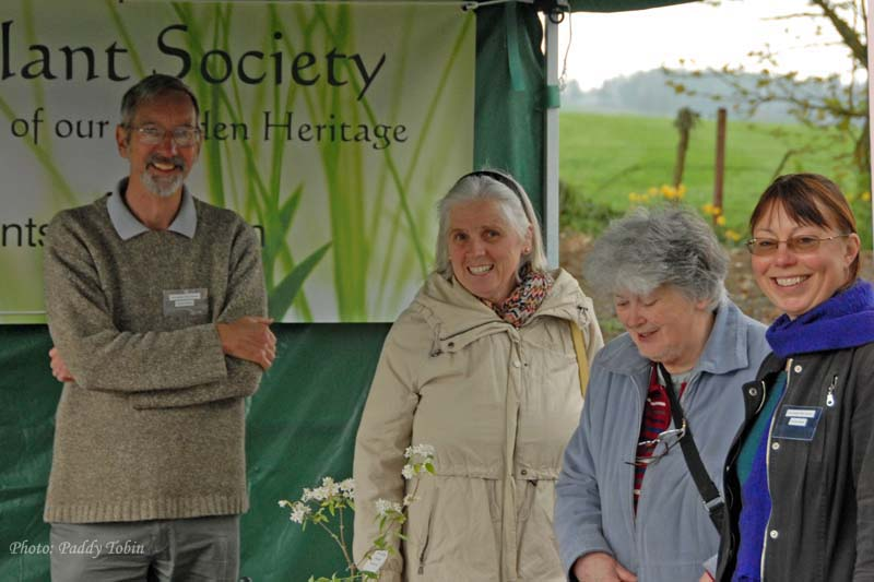 Stephen Butler, Mary Tobin, Ricky Shannon and Kirsten Walker on the IGPS stand at the Rare and Special Plant Sale at Russborough House