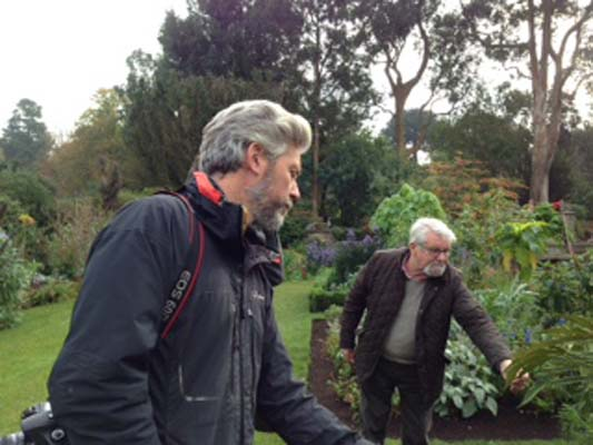 Nick Macer with Victor Henry looking at some of the wonderful plants at Mount Stewart recently