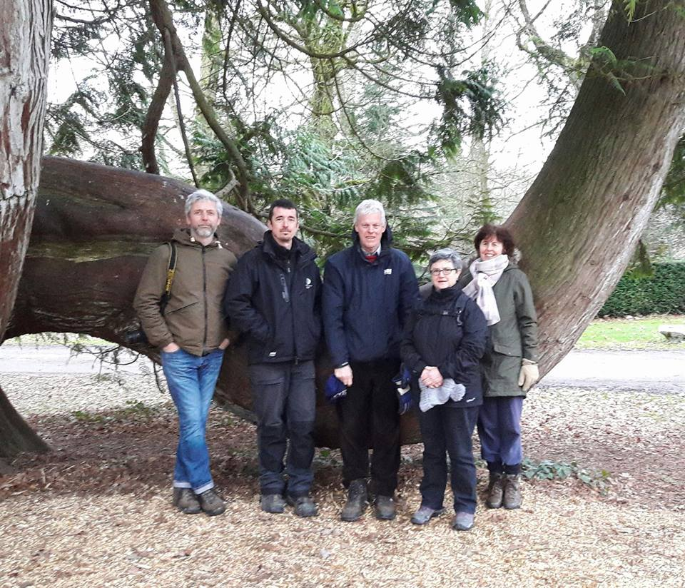 Nick Macer visiting Blarney Castle Gardens with Adam Whitbourn, Head Gardener at Blarney, Martin Edwardes, Margaret McAuliffe, Chairperson  IGPS Munster, and Janet Edwardes.